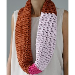 -60% Snood XL Ludi tricolore rosa