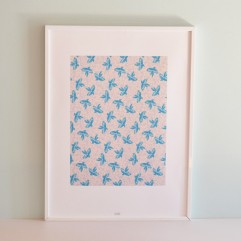Illustrazione Birds' flight Turquoise