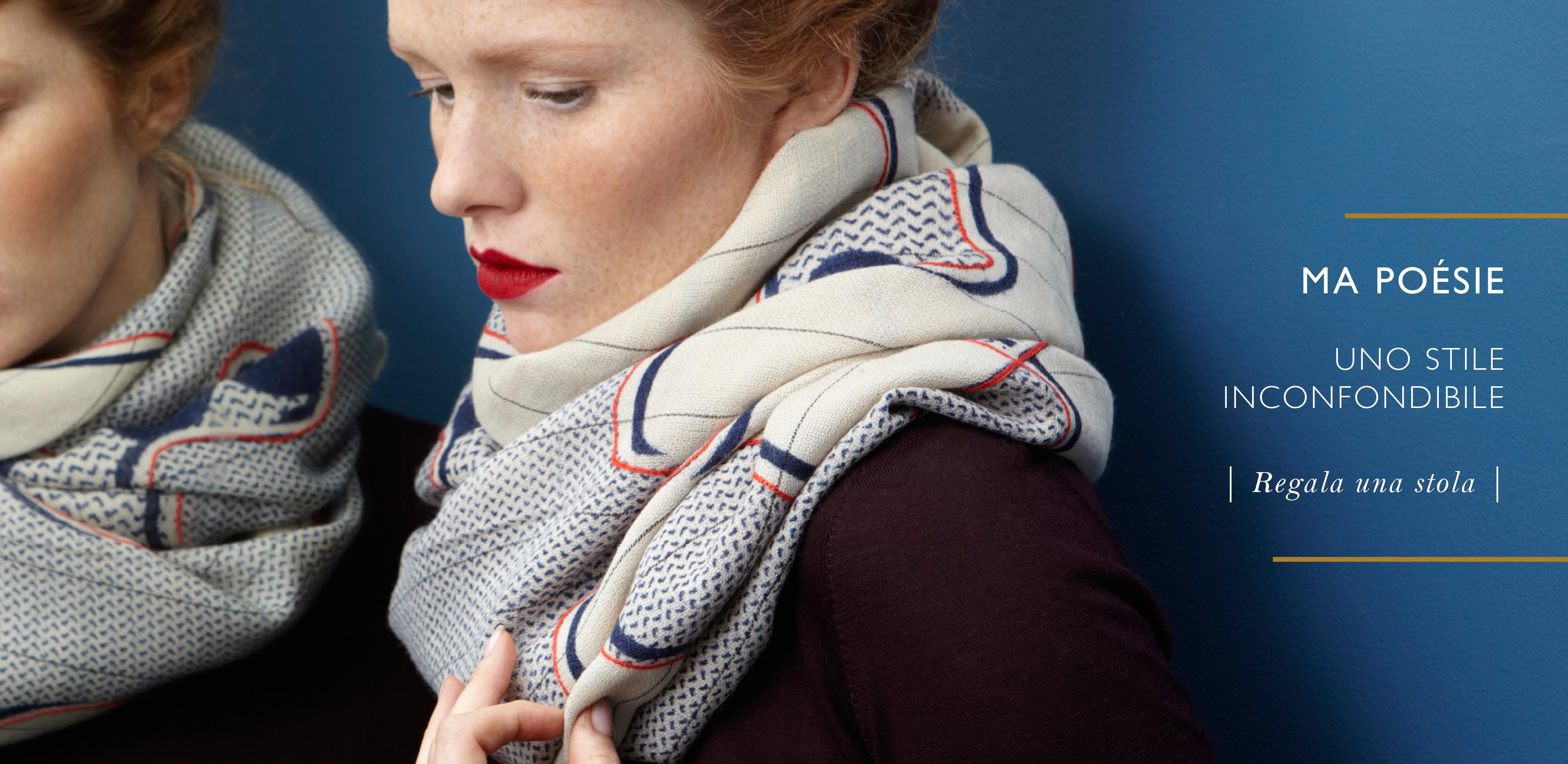Stole design in lana cashmere - Consegna gratuita da 100€