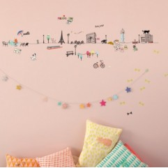 -50% Wall Border Paris 5mt