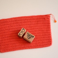 Pochette Cerise rouge