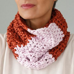 -50% Snood Margot brique hand made
