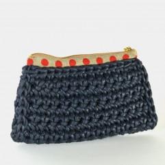 Knitted Purse Henson dark blu