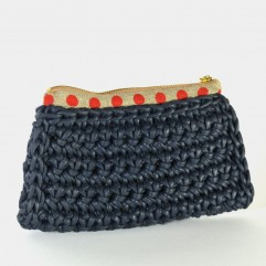 Crochet Purse Henson PM blu notte