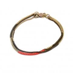 Bracelet  Split rouge fluo