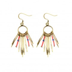 -50% LOUISE HENDRICKS  Keira coral earrings