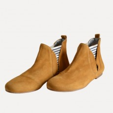 Mustard Leather Boots